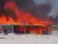 Incendiu de proportii la o cherhana din Vadu. Anchetatorii iau in calcul ipoteza ca focul sa fi fost pus intentionat