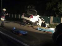 Accident cumplit in Neamt. Trei tineri au murit si inca unul e grav ranit dupa ce au intrat cu masina intr-un cap de pod