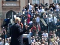 Donald Trump si-a incheiat discursul din Polonia pe fondul unei melodii care seamana cu