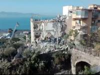 Un bloc de 4 etaje s-a prabusit in sudul Italiei. Doua familii, prinse sub daramaturi. FOTO si VIDEO