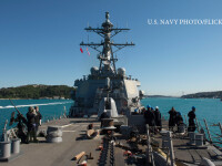 Concentrare de forte NATO in Marea Neagra. Americanii au trimis o nava dotata cu scut anti-racheta si trupe speciale