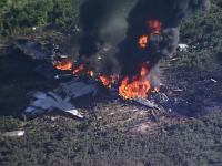 Un avion militar s-a prabusit in Mississippi, 16 oameni au murit. Ramasitele s-au imprastiat pe 8 km. VIDEO