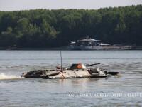 Un TAB s-a scufundat in Dunare in timpul exercitiului Saber Guardian. Ce s-a intamplat cu militarii din transportor