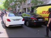 Taximetristii din Madrid s-au revoltat impotriva companiei Uber. A fost nevoie de interventia politistilor