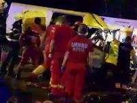 Cinci persoane, ranite intr-un accident. Un politist care mergea la accident, ranit si el dupa ce s-a rasturnat cu masina