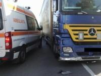 Accident grav petrecut pe DN7. Un pieton, care a incercat sa treaca printr-un loc nepermis, a fost izbit de un TIR