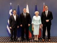 """Dăncilă, aflată la reuniunea România-Bulgaria-Grecia-Serbia: """"Accentul a fost pus pe proiectele de infrastructură"""""""