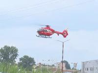 Bărbat înjunghiat, în stare gravă, preluat de elicopterul SMURD în Sibiu