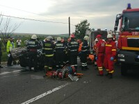 Accident grav în Iaşi între un microbuz, un autocar şi un autoturism. PLAN ROŞU