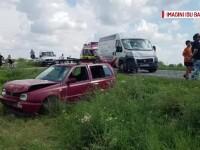 Accident cu 5 maşini, lângă Timişoara. O fetiţă a fost grav rănită
