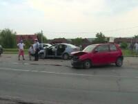 Accident pe DN 71, din cauza unei şoferiţe neatente.