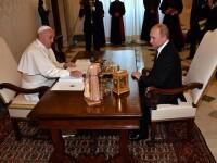 Putin s-a întâlnit pentru a treia oară cu Papa. \