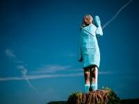 Statuia bizară cu Melania Trump, sculptată cu drujba în Slovenia. Reacția localnicilor