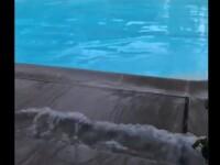 Ce se întâmplă într-o piscină în momentul cutremurului din California. VIDEO