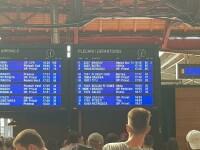 Trenuri blocate lângă Bucureşti, după ce 10 linii din Gara de Nord au rămas fără curent