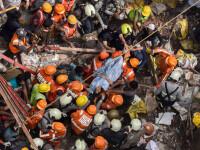 Clădire prăbușită într-un cartier din Mumbai. Bilanțul victimelor. FOTO