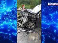 Accident grav în Brașov. Doi bărbați au fost răniți după ce mașinile lor s-au ciocnit frontal