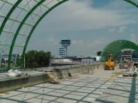 Calea ferată care leagă Aeroportul Otopeni de Gara de Nord, aproape gata. DN1 ar putea fi închis 5 nopţi