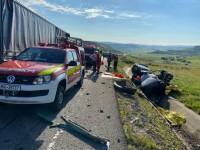 Accident grav pe centura Clujului. O mașină a fost spulberată de un TIR. Sunt trei morți