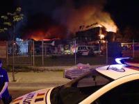 Incendiu puternic la Iași. Populația, avertizată prin Ro-Alert