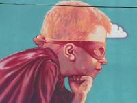 """Inițiativă emoționantă pentru copiii din spitale. Picturile cu supereroi care le dau curaj: """"Mi-ar plăcea să zbor"""""""