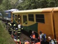 Două trenuri s-au ciocnit în Cehia. Doi oameni au murit și 24 sunt răniți