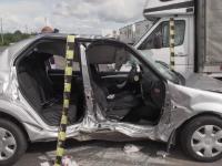 Accident grav pe DN1, provocat de un șofer de 81 de ani. Doi răniți și trei mașini distruse