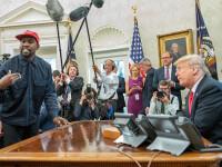 Ce i-a transmis Donald Trump lui Kanye West. Cântărețul spune că și-a depus candidatura