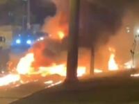 VIDEO. Un avion a explodat, după ce a aterizat forțat pe o stradă din Sao Paolo