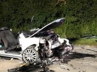 Imagine tulburătoare. Cum arată o mașină cu volan pe dreapta distrusă într-un accident