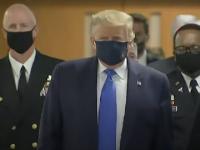 VIDEO. Donald Trump a purtat mască de protecție pentru prima dată de la începutul pandemiei