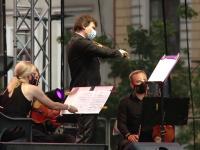 VIDEO. Concert de muzică clasică în centrul Clujului, cu reguli de pandemie