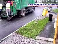 Un moment de neatenție putea să îi coste scump pe angajații unei firme de salubritate din Sibiu