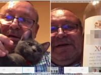 Senatorul PNL Fenechiu, filmat cu un coniac și o pisică la dezbaterile Legii carantinării