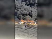 VIDEO șocant. O conductă cu petrol a explodat în Egipt. 17 oameni au fost răniți