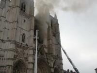 VIDEO. Incendiu la catedrala din Nantes. Autoritățile îl tratează ca pe un act criminal