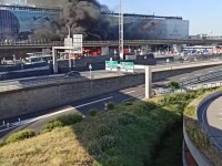 Momente de panică la Paris. Incendiu, izbucnit în fața unui aeroport