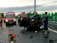 Trei copii, răniți într-un accident grav, aproape de Vama Nădlac