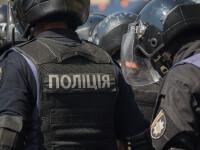 Un bărbat s-a baricadat într-o bancă din Kiev și susține că are o bombă