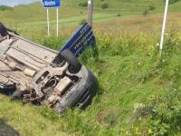 Accident mortal pe o șosea din Cluj. Un bărbat a murit, după ce a intrat cu mașina pe un drum cu prioritate