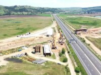 Cele două loturi ale autostrăzii Sebeș-Turda, inaugurate până la 30 noiembrie. Orban și Bode, în vizită pe șantier