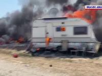 Rulote mistuite de foc la 2 Mai. Ce s-a întâmplat