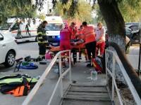 VIDEO. Accident naval la Murighiol, cu 13 persoane implicate. A fost activat Planul Roșu de intervenție