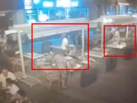 VIDEO. Bătaie la o terasă din Timișoara. Au aruncat cu sticle și scaune, deși erau și copii acolo