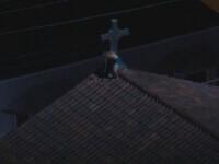 Un bărbat la bustul gol s-a urcat pe acoperișul unei biserici din SUA și a dat foc crucii