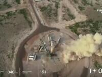 Miliardarul Jeff Bezos şi echipajul său au zburat în spațiu timp de aproximativ 10 minute
