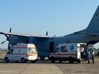 Trei dintre victimele exploziei din Popești Leordeni, transferate în Germania cu un avion militar