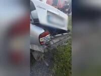 O mașină a fost spulberată de tren, în Dâmbovița. Cum a reacționat șoferul