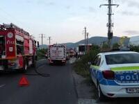 Două mașini s-au făcut praf pe o stradă din Baia Mare. Ce s-a întâmplat