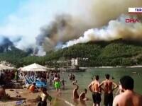 Incendiile din Turcia pun în pericol stațiunile turistice. Mai multe hoteluri au fost evacuate